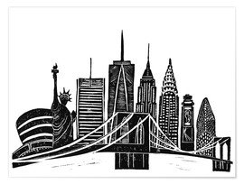 Bianca Green - LINOCUT NEW YORK