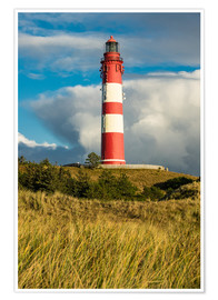 Premium poster Lighthouse on the island Amrum, Germany