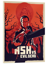 Acrylic glass  Ash Vs the evil dead - Fourteenlab