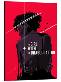 Aluminium print  The Girl with The Dragon Tattoo - Fourteenlab