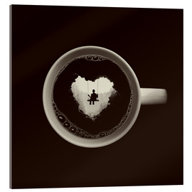Acrylic glass  A heart for coffee - Buko
