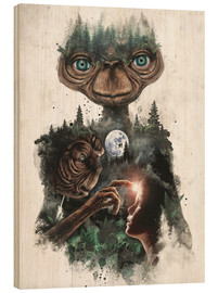 Wood print  E.T. the extra terrestrial - Barrett Biggers