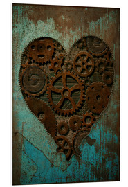 Foam board print  Clockwork Heart - Sybille Sterk