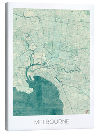 Canvas print  Melbourne Map Blue - Hubert Roguski