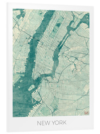 Forex  New York Map Blue - Hubert Roguski