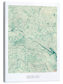 Canvas  Berlin Map Blue - Hubert Roguski