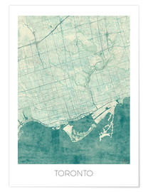 Hubert Roguski - Toronto Map Blue