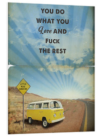 Foam board print  Alternative Little Miss Sunshine retro art - 2ToastDesign