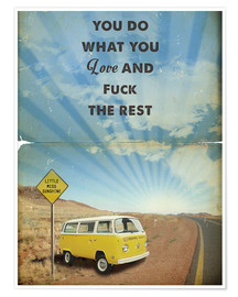 Premium poster Alternative Little Miss Sunshine retro art