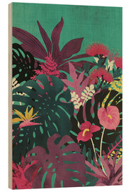 Wood print  Tropical tendencies - littleclyde