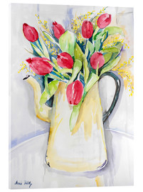 Acrylic glass  Tulips in spring - Maria Földy