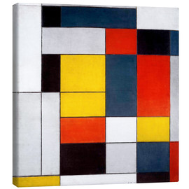 Canvas print  composition - Piet Mondriaan