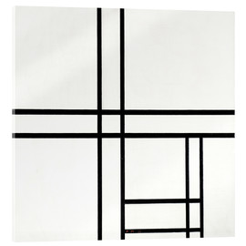 Acrylic print  Composition in White, Black, and Red - Piet Mondrian