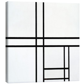Canvas print  Composition in White and Black - Piet Mondriaan