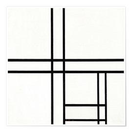 Premium poster  Composition in White and Black - Piet Mondriaan