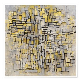 Poster  tableau no 2 composition no vii - Piet Mondrian