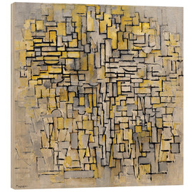 Wood print  Tableau 2, Composition VII - Piet Mondriaan