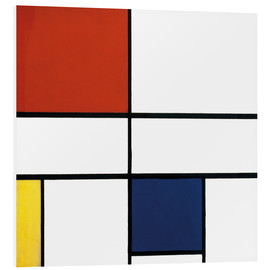 Foam board print  Composition c no iii with red yellow and blue - Piet Mondrian
