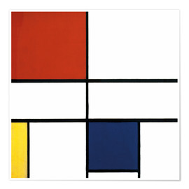 Premium poster  Composition c no iii with red yellow and blue - Piet Mondriaan