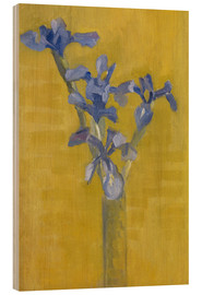 Wood  Irises - Piet Mondrian