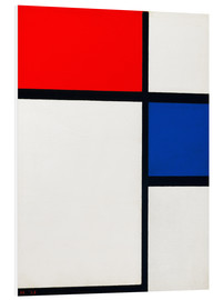 Foam board print  Composition with Yellow, Blue and Red - Piet Mondriaan