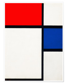 Premium poster  Composition with Yellow, Blue and Red - Piet Mondrian