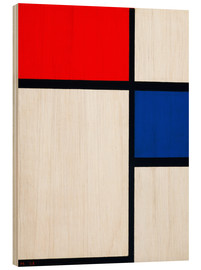 Wood  Composition with Yellow, Blue and Red - Piet Mondrian