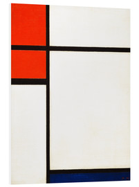 Foam board print  composition with red and blue - Piet Mondriaan