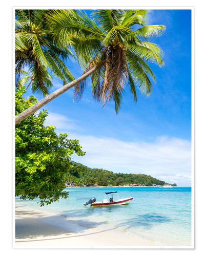 Premium poster Beach vacation on a remote island in the tropics