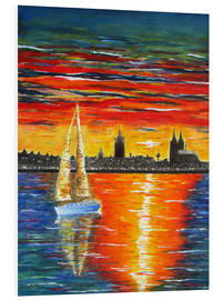 Forex  Sailboat in the sunset in front of Cologne - siegfried2838