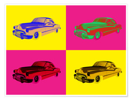 Premium poster Vintage car Pop art