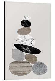 Aluminium print  Beach stones - Amy and Kurt
