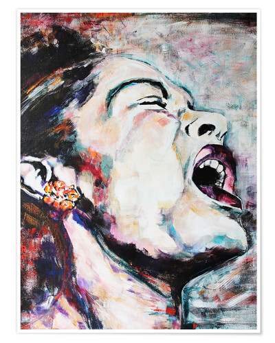 Premium poster Billie Holiday, I'm a Fool to Want You