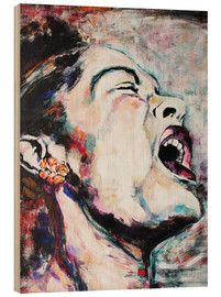 Wood print  Billie Holiday, I`m a Fool to Want You - Christel Roelandt