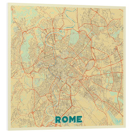 Foam board print  Rome Map Retro - Hubert Roguski