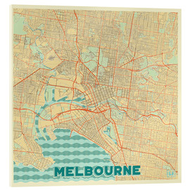 Acrylic print  Melbourne Map Retro - Hubert Roguski