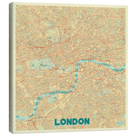 Canvas  London Map Retro - Hubert Roguski