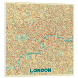 Foam board print  London Map Retro - Hubert Roguski