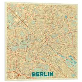 Foam board print  Berlin Map Retro - Hubert Roguski