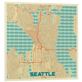 Forex  Seattle Map Retro - Hubert Roguski