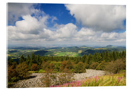 Acrylic print  Panorama of the Rhoen as seen from the Wasserkuppe - Circumnavigation
