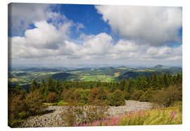 Canvas print  Panorama of the Rhoen as seen from the Wasserkuppe - Circumnavigation