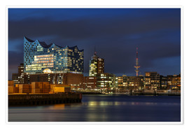 Poster  Hafencity with Elbphilharmonie - Sabine Wagner