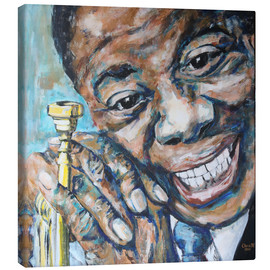 Canvas print  What a Wonderful World, Louis Armstrong - Christel Roelandt