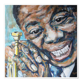 Premium poster What a Wonderful World, Louis Armstrong