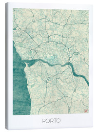 Canvas  Porto Map Blue - Hubert Roguski