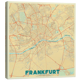 Canvas  Frankfurt Map Retro - Hubert Roguski