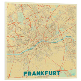 Forex  Frankfurt Map Retro - Hubert Roguski