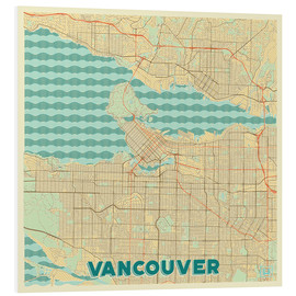 Foam board print  Vancouver Map Retro - Hubert Roguski
