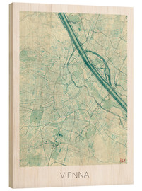 Wood  Vienna Map Blue - Hubert Roguski